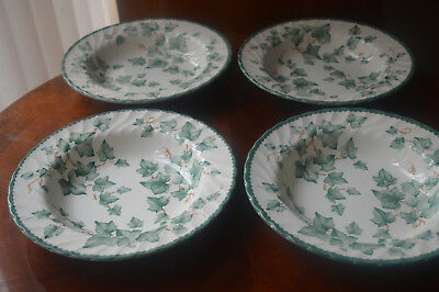 BHS country vine four rimmed soup bowls