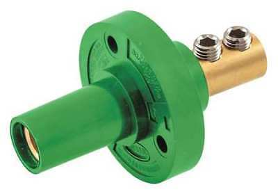 HUBBELL HBL15FRGN Receptacle,Grn,Female,8-2,Taper