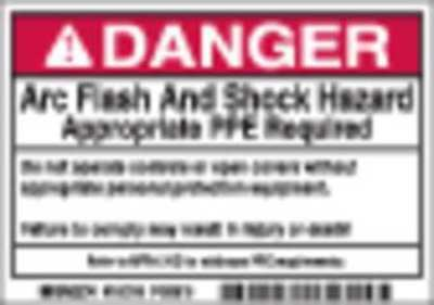 Arc Flash Protection Label,PK100 BRADY 102310