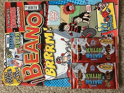 Beano Comic Magazine With Free Toy On Front Unused Original Match Attack