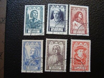 FRANCE - timbre yvert/tellier n° 765 a 770 oblitere (L1)