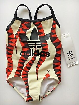 New GIRLS Swimsuit ADIDAS ORIGINALS By MINI RODINI Snake 9 - 12 months RRP £32