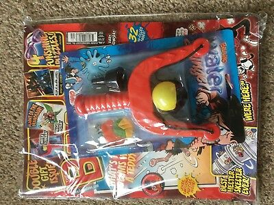 Beano Comic Magazine With Free Toy On Front Unused Original Water Slinger