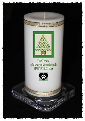 Christmas Candle From The DOG personalised Gift own message  | Cellini #8