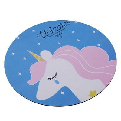 Creative Cute Student Unicorn Cartoon Round Mouse Pad Computer Mouse Mat New J