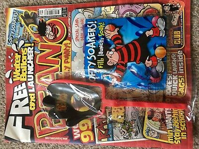 Beano Comic Magazine With Free Toy On Front Unused Original Softy Soakers