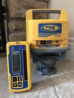 Trimble Spectra Precision LL500 Level With HL450 Receiver Great Price !!