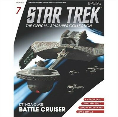Star Trek Eaglemoss Magazine Only. Klingon K't'inga Class Battle Cruiser
