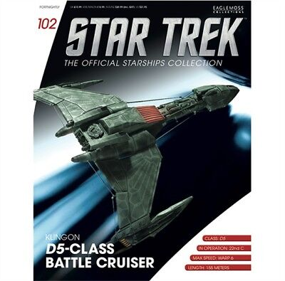 Star Trek Eaglemoss Magazine Only. Klingon D5 Class Battle Cruiser