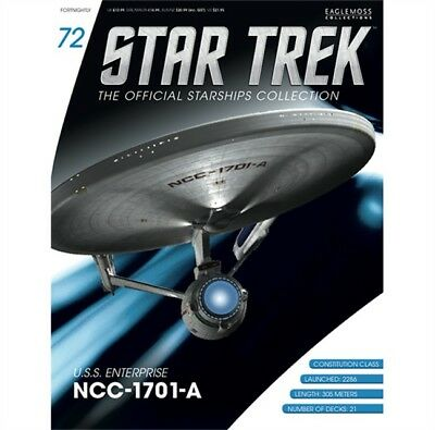Star Trek Eaglemoss Magazine Only. Uss Enterprise Ncc-1701-A