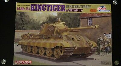 Dragon German Kingtiger Tank Henschel Turret w/Zimmerit WW2 1/35 6303 WRAPPED