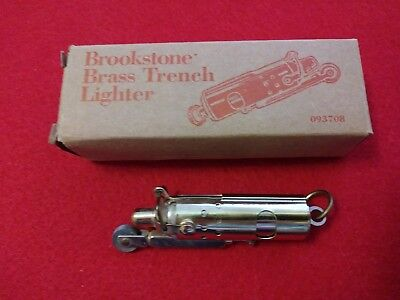 Brookstone Brass Trench Lighter in Box - 2 3/4 inches long