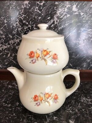 Hall China Drip-O-Lator Coffee Pot - Tulips - 4 pieces