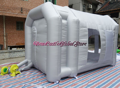 custom made portable 14'L x 9'W x 9'H inflatable spray paint booth enclosure
