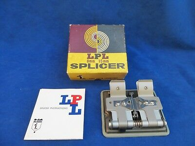 LPL 8mm 16mm Cine Film Movie Tape Splicer - Boxed With Instructions