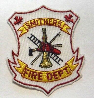 """Smithers British Columbia Canada Fire Dept 3"""" Patch Unused"""