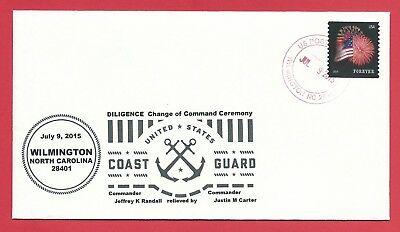 Commemorative Cover ~ Coast Guard - Diligence Change of Command