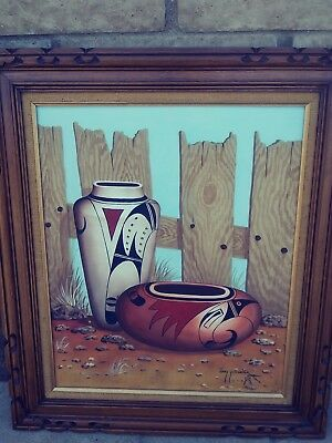 navajo oil painting by jimmy yellowhair