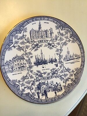 Vintage Grimsby Telegraph Centenary Plate Dock Tower Royal hotel. 8 3/4""