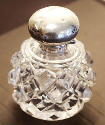 Antique Siver Top Glass Perfume Bottle