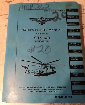 NATOPS FLIGHT MANUAL NAVY MODEL CH-53A/D HELICOPTERS -  15 March 1971