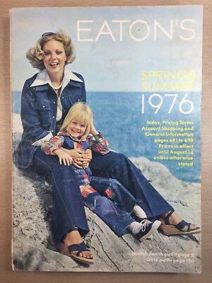 Eaton's CATALOG - Spring Summer Moncton Canada 1976 Guitars Bicycle Rifles VTG