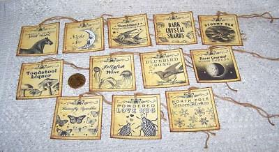 Halloween~Fantasy~Magic~Potion~Labels~Witch~Linen Cardstock~Gift~Hang~Tags