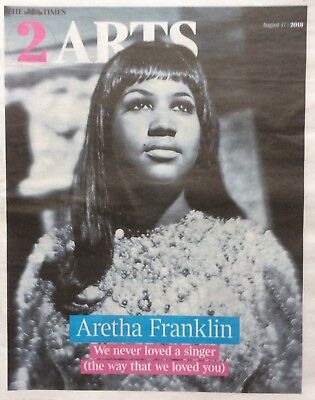 ARETHA FRANKLIN UK Times Newspaper Clipping 17/8/18 *Say A Little Prayer