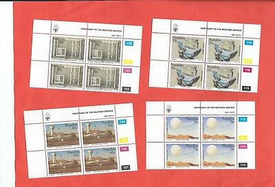 Namibia stamps. 1991 Centenary of the Weather Service blocks of 4 MNH (B766)