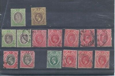 Southern Nigeria stamps. Small mixed lot. Top two are MH rest used.  (C739)