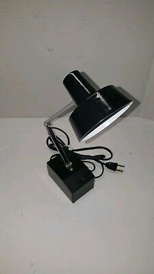 Vintage Black Mini Desk Lamp Adjustable Task High & Low Light Made in Japan (#3)