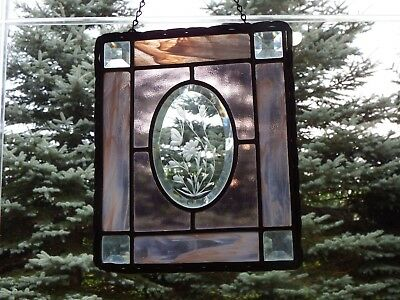 Stained Glass Hanging Window Panel Sun Catcher.