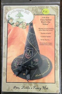 Life Size Crazy Quilt Witch's Hat Sewing Craft PATTERN ONLY Halloween