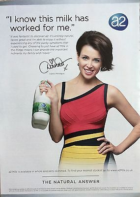DANNII MINOGUE UK Milk Full Page Ad Clipping #2 Pic *Kylie Cutting