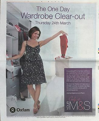 DANNII MINOGUE UK M&S Wardrobe Full Page Ad Clipping 2011 *Kylie Cutting