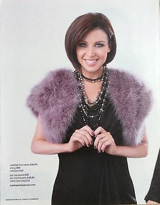 DANNII MINOGUE UK M&S Full Page Clipping Pic *Kylie Cutting