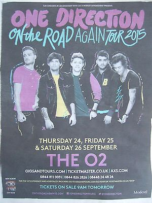 ONE DIRECTION UK Newspaper Tour Ad Clipping Dec 2014 *4 Concert 1D