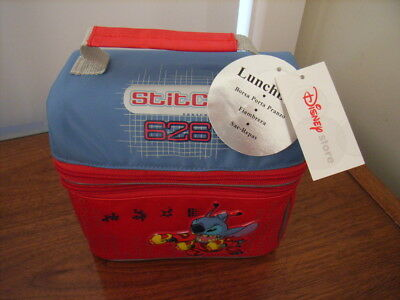 Lilo and Stitch lunch Bag Disney Store Spaceman 626 RETIRED Tote Box