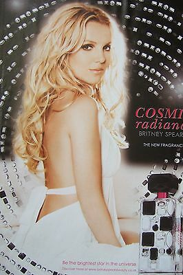BRITNEY SPEARS UK Cosmic Radiance Magazine Ad Clipping *One More Time Toxic