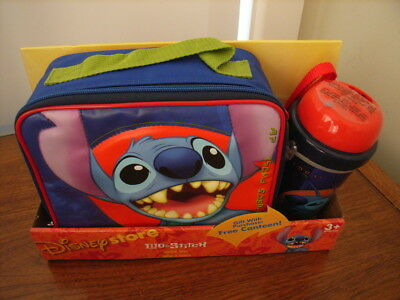 Lilo and Stitch Lunch Tote w/Canteen Disney Store Spaceman 626 RETIRED Bag Box
