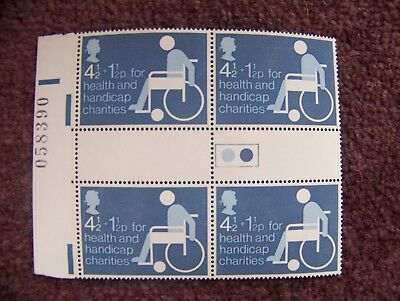 1975 Health and Handicap Charities Gutter Block Of Four Mint In Aid Of BCRT