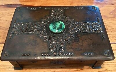 Extremely Rare Arts and Crafts Mission Western Metal Box. Beautiful!