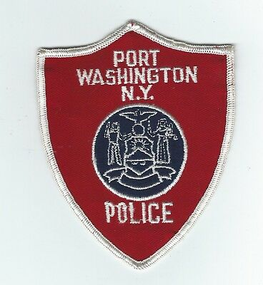 VINTAGE PORT WASHINGTON, NEW YORK POLICE (CHEESE CLOTH BACK) patch