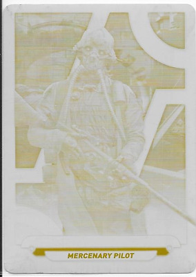 2018 Star Wars Galactic Files Yellow Printing Plate Ro-18 Benthic Two Tubes 1/1