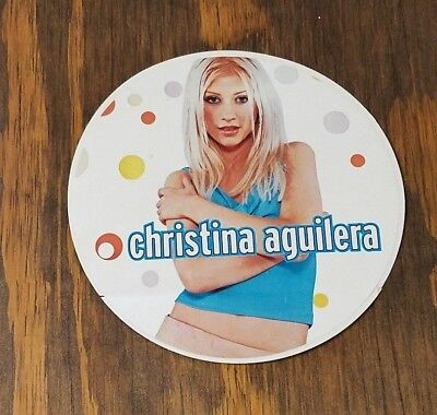 Christina Aguilera Vintage Debut STICKER 3 Inch Round 1998