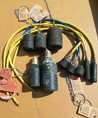 """Lot Of 10 Pneumatic Test Balls& Bottles 1-1/2"""",2"""",3""""and 4"""""""