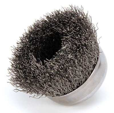 """WEILER 93243 Crimped Wire Cup Brush, 3"""" Dia., 0.014"""""""