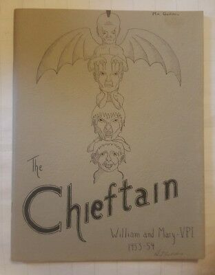1953-1954 College William and Mary VPI Norfolk The Chieftain Yearbook ODU
