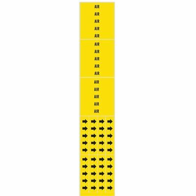 Pipe Marker,Air,Yellow,3/4 In or Less BRADY 7005-3C