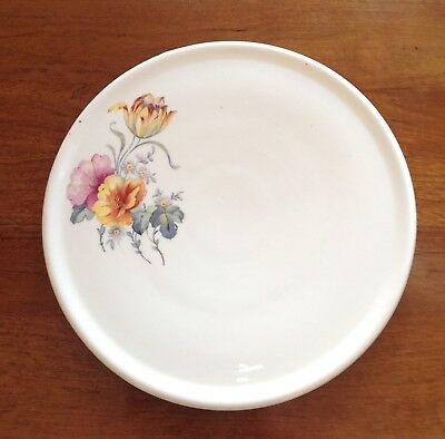 Vintage COORS POTTERY Tulip pattern CAKE PLATE. Perfect!. 11 inches round.